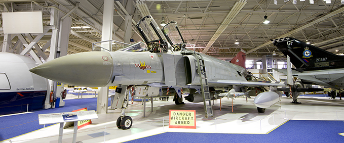 Our McDonnell Douglas Phantom FGR2 on display in Historic Hangars at the RAF Museum London