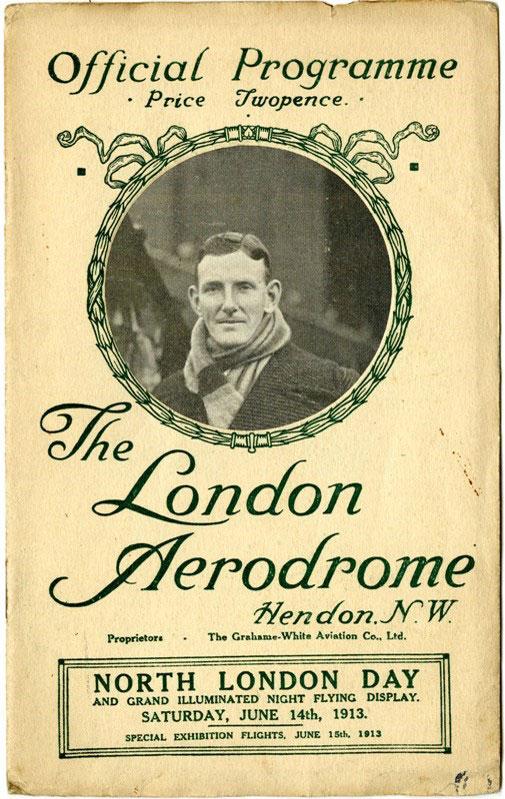 Example of 1913 Hendon programme