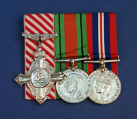 Sqdn Ldr Glover's Medal bar including the Air Force Cross