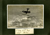 Photograph of Armstrong Whitworth F.K.8 in flight from album compiled by Air Mechanic 3rd Class William Frederick Leedham, 1918