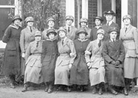 WRNS and WRAFs at Warsash Air Station, 1918