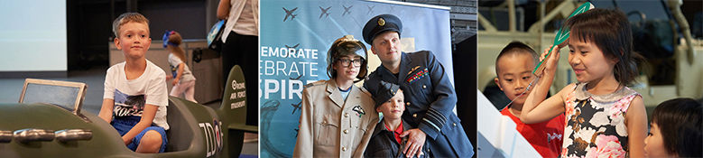 Young visitors of the RAF Museum London