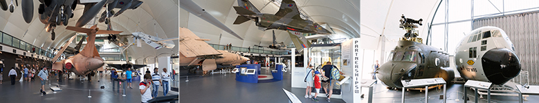 The interior of the new exhibition 'RAF in the Age of Uncertainty: 1980 - Today' at the RAF Museum London