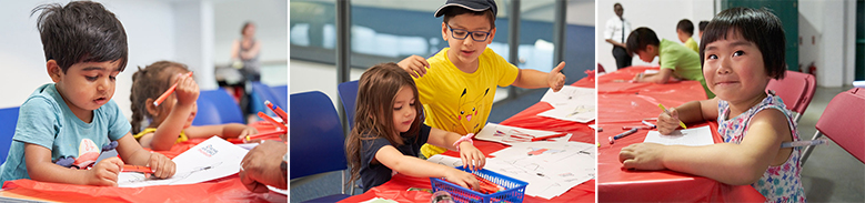 Young visitors at the Museum's workshops