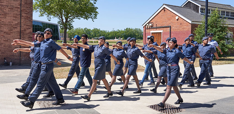 Air Cadets on parade at the Museum