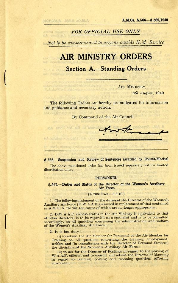 AC72-17: Air Ministry Order A567-1940