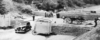 Barricade - British defences