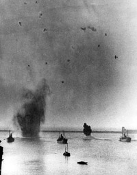 German aerial assault on shipping in the English Channel