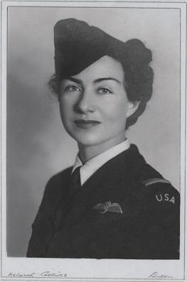 Evelyn Hudson in ATA uniform, portrait image