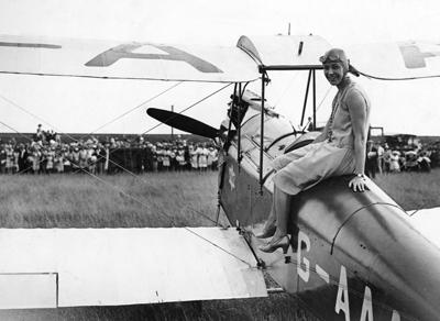 Amy Johnson long distance flight record breaker