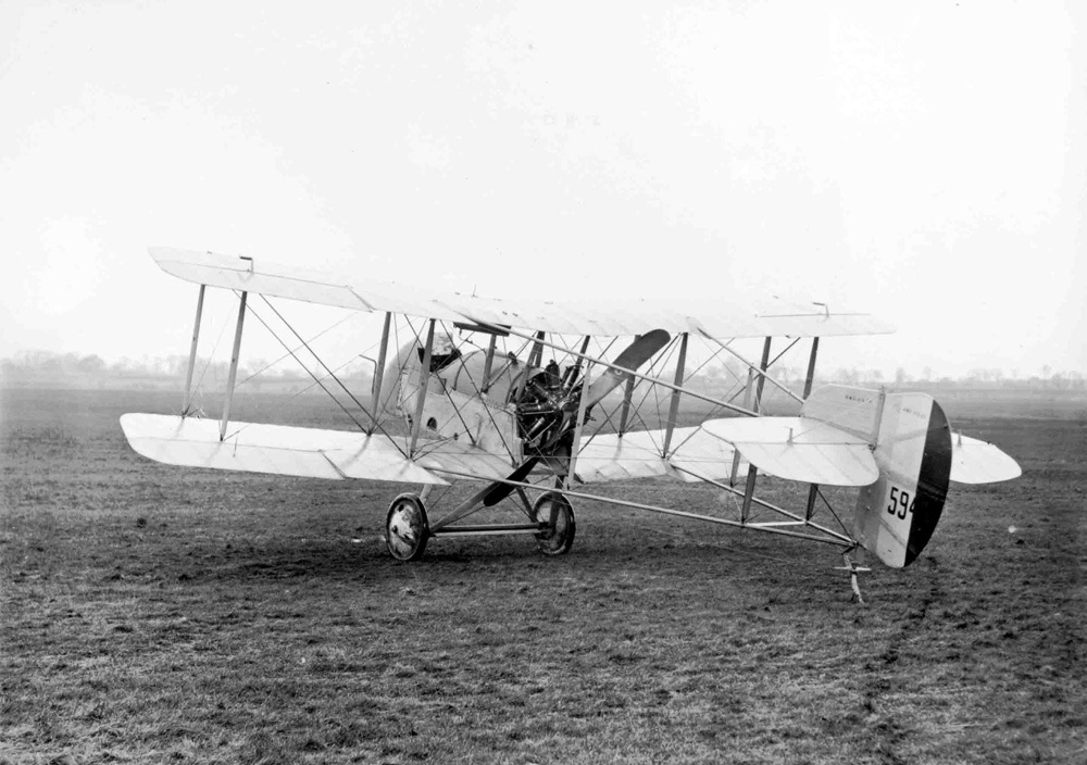 An Airco DH2 with the propeller in the rear to allow a machine gun in the front