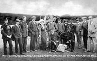 In September 1911, Gustav Hamel flew the first aerial mail flight from Hendon to Windsor