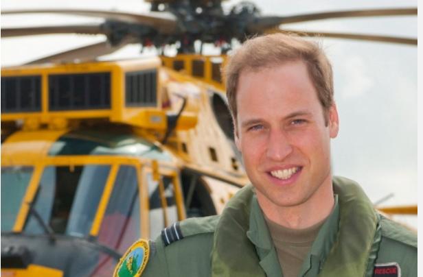 HRH the Duke of Cambridge serving in the RAF