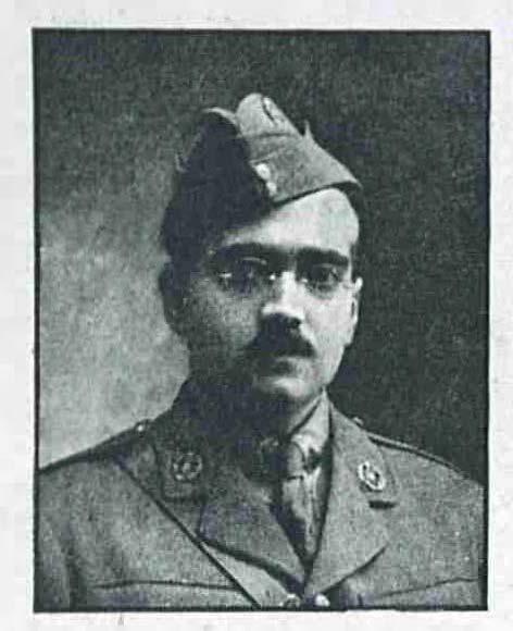 Image of Lieutenant Jeejeebhoy Piroshaw Bomanjee Jeejeebhoy from 'The Graphic' 31 May 1919