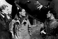 No.242 Squadron's aircraft carried a cartoon showing a boot marked '242' kicking Hitler.