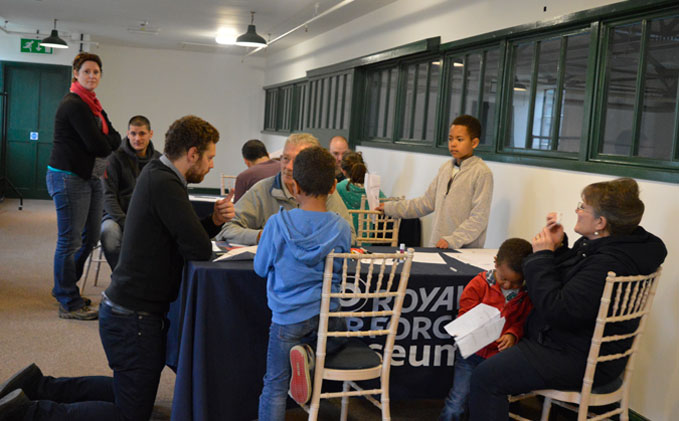 A Co-Discovery Session underway in the Museum's Community Room