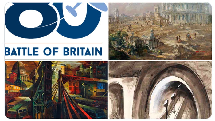 A selection of paintings from our Battle of Britain Art Exhibition, plus the 80th anniversary Battle of Britain logo