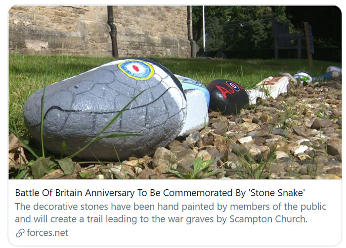 The Battle of Britain Snake at Scampton Church