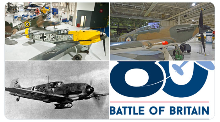 A selection of images showing aircraft from our collections that fought in the Battle of Britain.