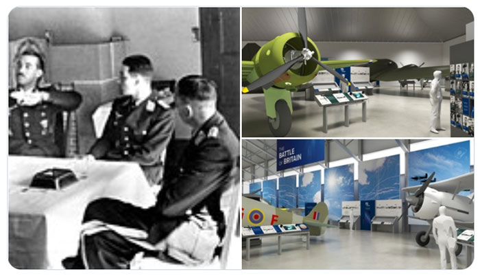 Selection of images showing plans of our new Battle of Britain displays and Luftwaffe Ace Adolf Galland