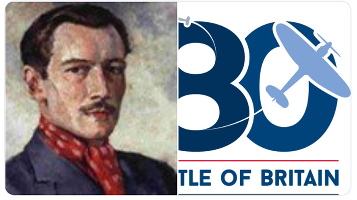 An image of Robert Standford Tuck and the Battle of Britain 80th Anniversary Logo