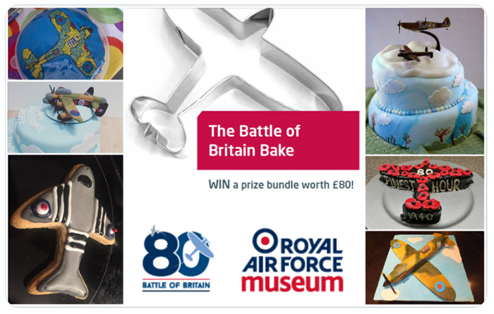 A selection of cakes and biscuits that have been entered into our Battle of Britain Bake