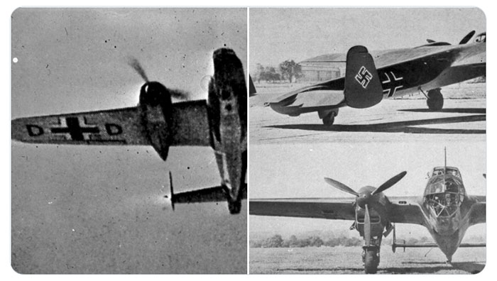 3 images showing Luftwaffe aircraft