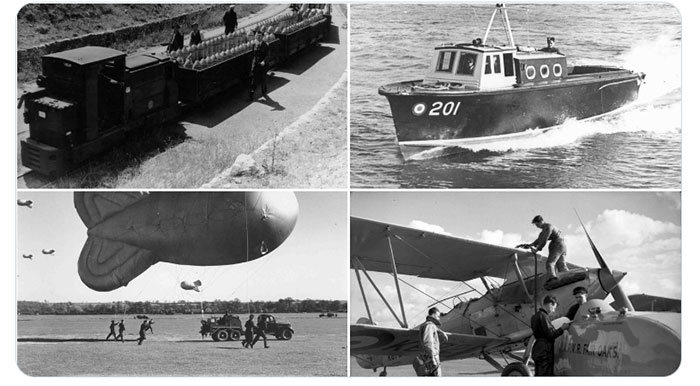 Images of various support vehicles that Curator Bryan Legate mentions in his blog