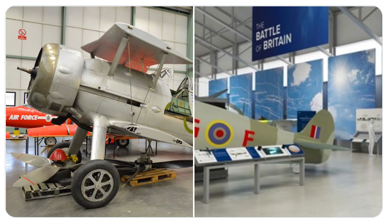 A couple of images of Cosford's Gloster Gladiator on display as part of our new Battle of Britain displays