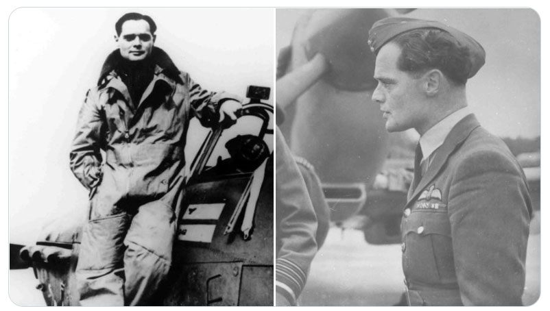 Two portraits of Douglas Bader