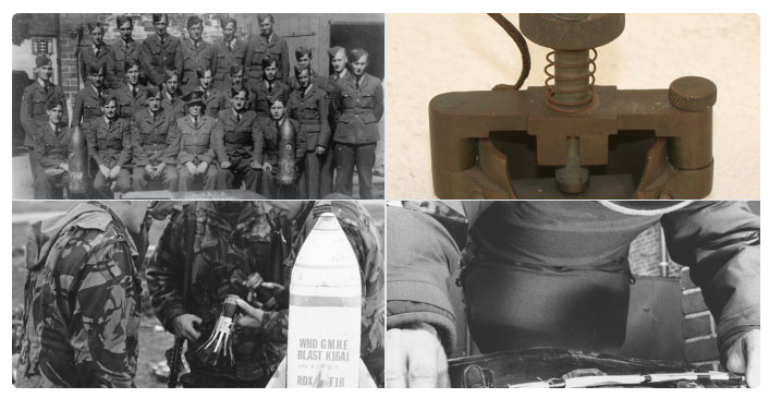 Montage of Bomb Disposal Personnel and equipment