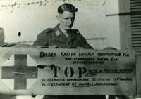 'This box contains an artificial leg for Wing Commander Bader, RAF, Prisoner of War. Please deliver to the following address: Commanding Officer, German Air Force, St Omer (Longuenesse) airfield'