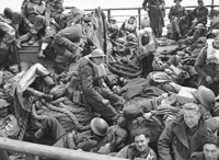 Allied troops evacuated from Dunkirk