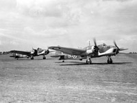 Bristol Blenheim IV aircraft of 40 Squadron taxying at RAF Wyton, July 1940