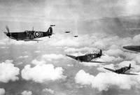 Spitfires of 610 Squadron. This squadron was based at Biggin Hill throughout Phase 3 of the Battle of Britain. In September 1940 it was sent north to rest.