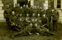 Group photograph of Flight Cadets of No. 40 Training Depot Station, Harlaxton, from album compiled by Air Mechanic 3rd Class William Frederick Leedham, 1918
