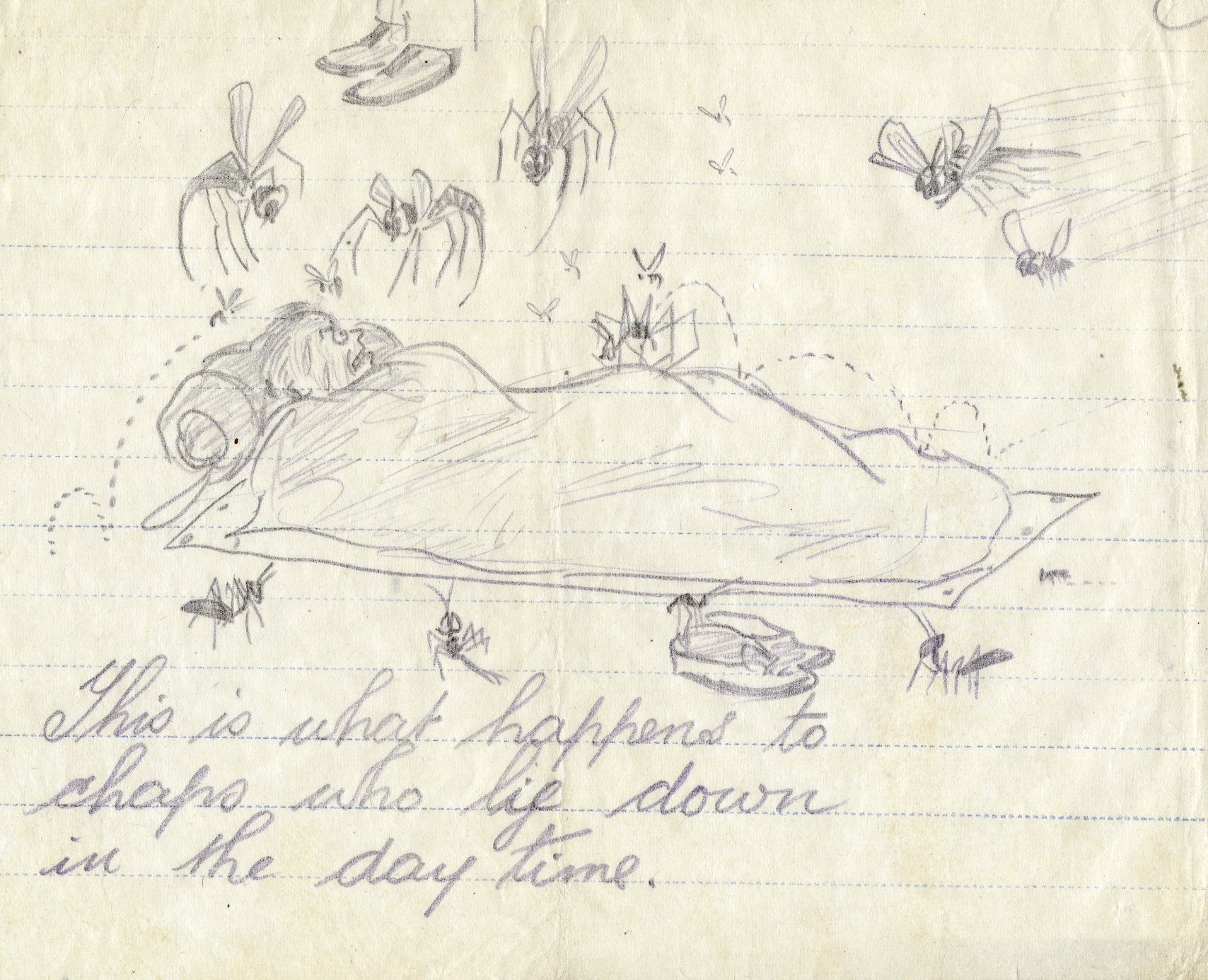 Image: X003-0380/002/022 – Cartoon by A Mech 3 John Roscoe. RAF Museum