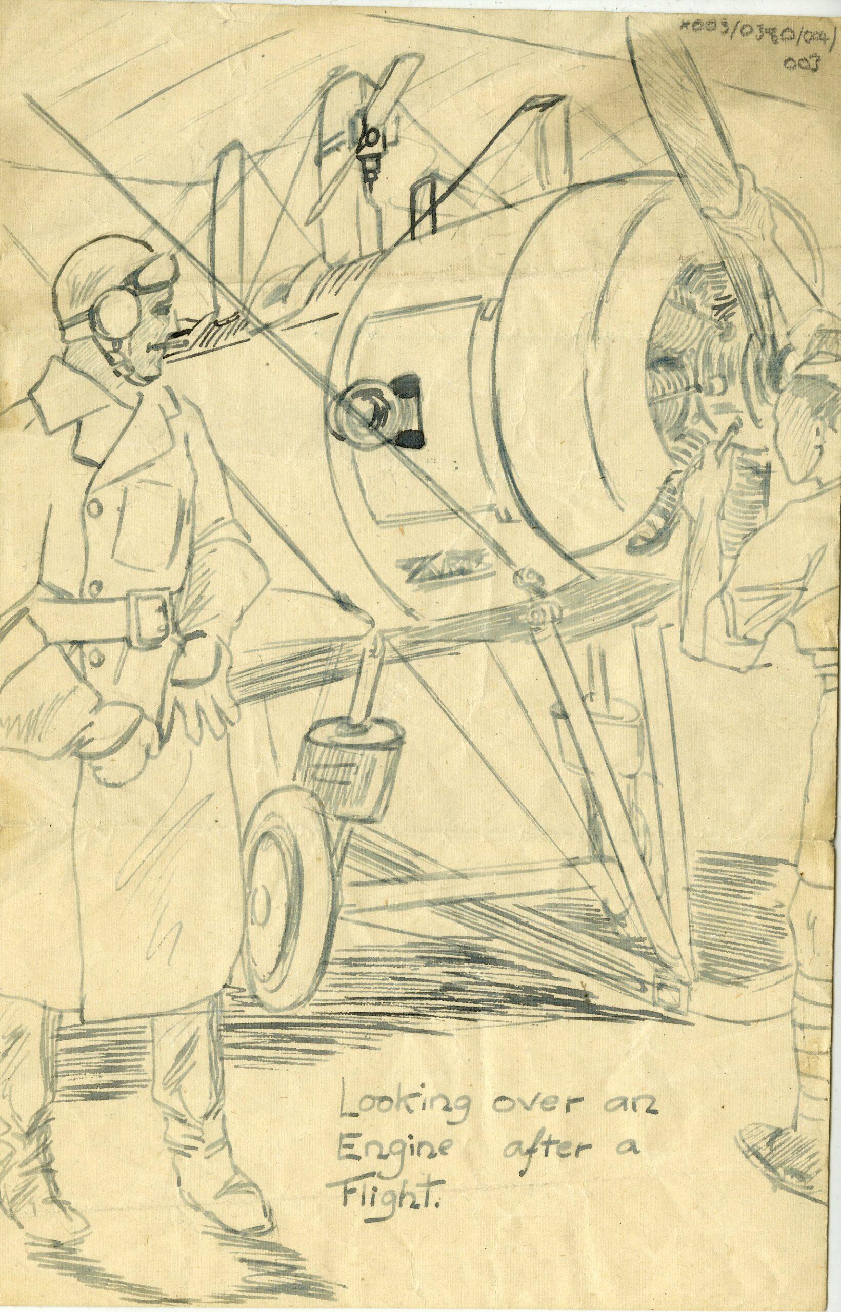 Image: X003-0380/004/003 – Drawing by A Mech 3 John Roscoe. RAF Museum