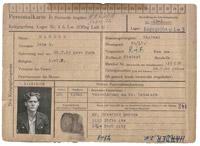 Prisoner of War record card of Flt Lt John Harder, July 1944