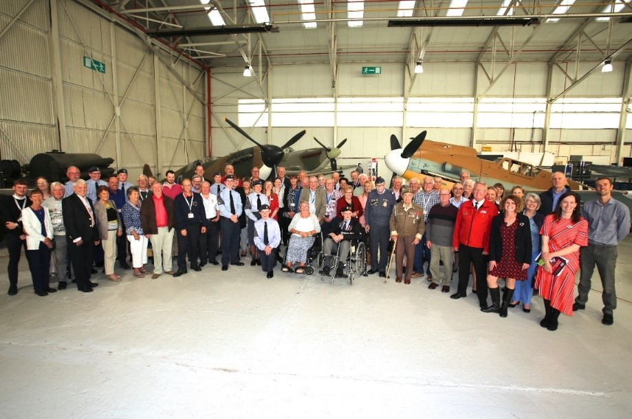 Group photograph volunteers RAF Museum Cosford