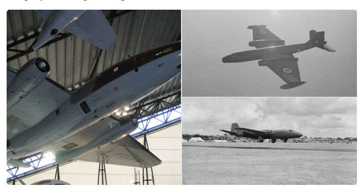 Cosford's Canberra and historic photographs