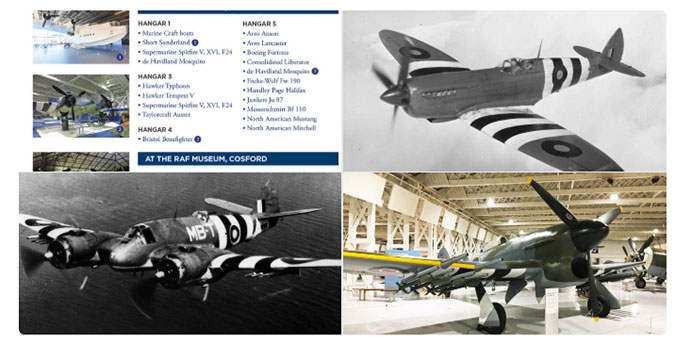 Montage of aircraft in our collection that served on D-Day