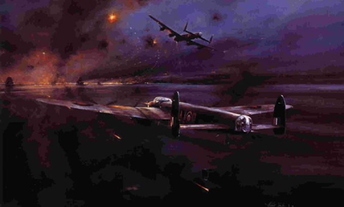 The Dambuster raid, painted by Robert Taylor in 1979