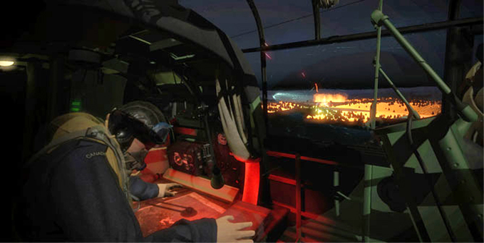 The Navigator at the new Dambusters Virtual Reality Experience at the RAF Museum London