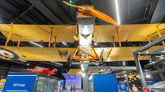 A DH.9A in our exhibition RAF Stories in Hangar 1