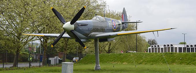 Supermarine Spitfire MK XVI, the Gate Guardian of the RAF Museum London