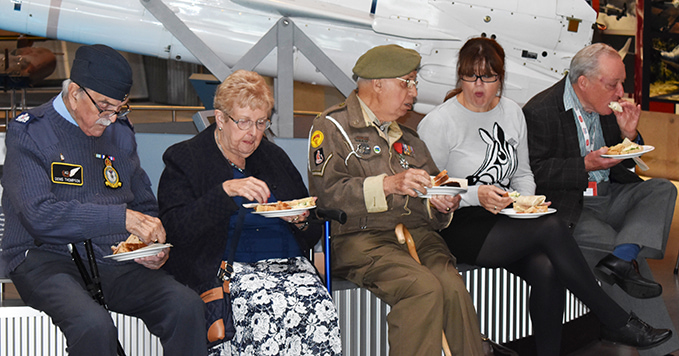 Volunteers at Cosford's Thank You event