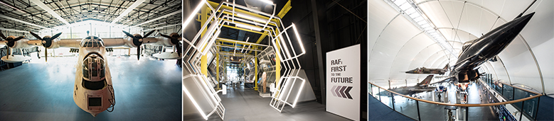 The interiors of the new exhibitions at the RAF Museum London