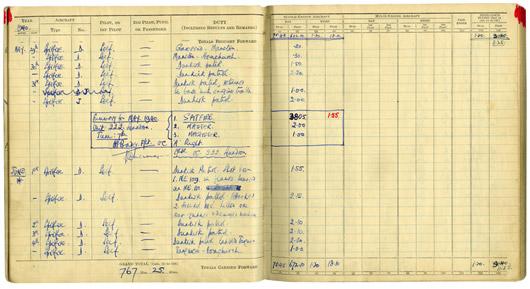 Douglas Bader's Log Book - Dunkirk, May and June 1940