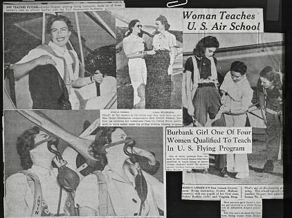 press cuttings 1940 with images of Evelyn Hudson.